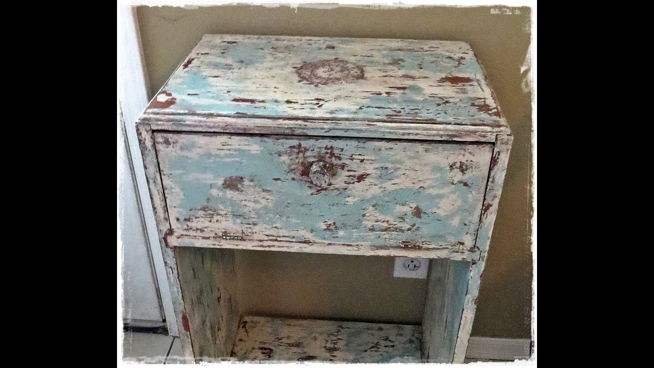 How to get a shabby distressed paint finish youtube for Distressed furniture