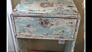 How to get a shabby distressed paint finish