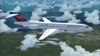 DAL1439 Boeing 717-200 flight to San Jose (FS2004)