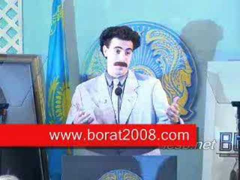 Borat's Press Conference on Kazakhstan National Television