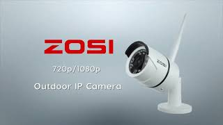 ZOSI 1080P Wifi IP Kamera 2.0MP HD Kızılötesi Gece Görüş