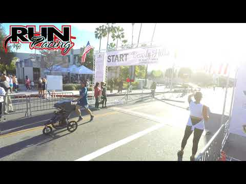 Beverly Hills 5k and Fitness Blast 2017 Finish line