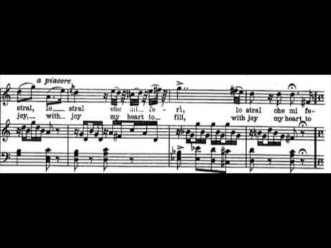 Juan Diego Florez - Ecco Ridente in Cielo (with score)