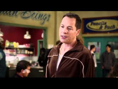 Community S03E12 French Stewart playing a manager who used to be a French Stewart Impersonator