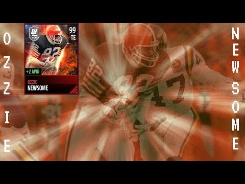 BOSS LEGEND OZZIE NEWSOME GAMEPLAY!! 10X BETTER THAN MASTER GRONK!! MADDEN MOBILE 17 PLAYER REVIEW