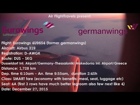 Trip Report : Eurowings | Düsseldorf to Thessaloniki | 4U9654 | A319 | Smart fare | DUS-SKG