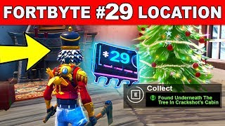 FOUND UNDERNEATH THE TREE IN CRACHSHOT'S CABIN - Fortnite Fortbyte #29 Location Guide