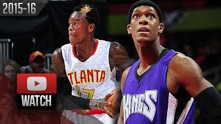 Rajon Rondo vs Dennis Schroder PG Duel Highlights (2015.11.18) Hawks vs Kings - SICK!