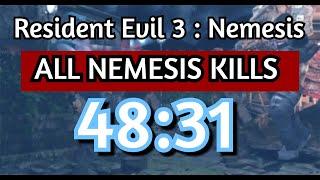 Resident Evil 3: Nemesis - All Nemesis Kills Speedrun - 48:31