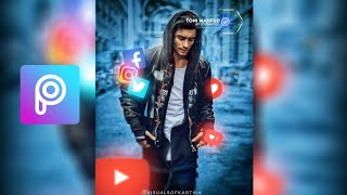 Gambar cover Social Media Geek Futuristic tutorial | How to edit photos for Instagram | Picsart tutorial 2018