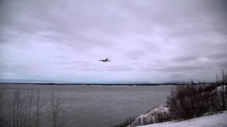 747 coming in for a landing at Ted Stevens Anchorage International Airport