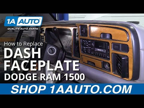 How To Replace Dash Faceplate 94-02 Dodge Ram 1500