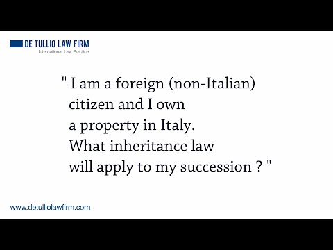 I am a foreign non Italian citizen and I own a property in Italy