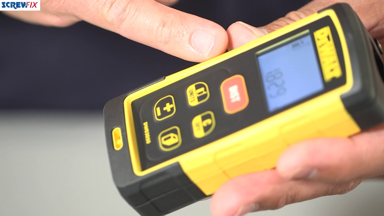 Dewalt dw laser distance measurer screwfix youtube