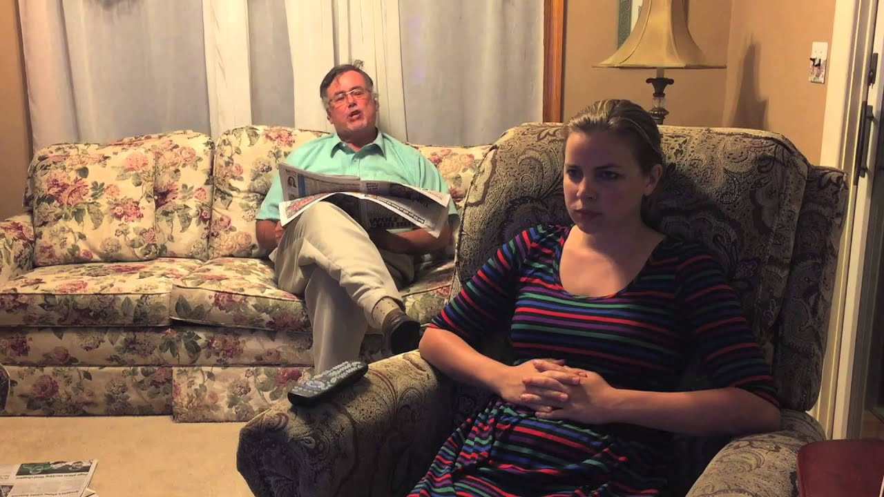 Dad And Daughter Sit In Den Youtube