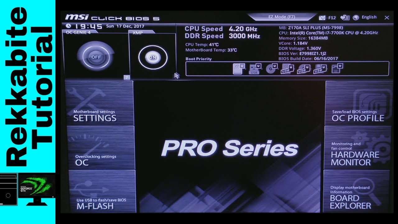 How to Install Windows 10 on a BPX NVMe with an MSI Z170A Motherboard