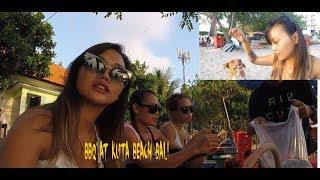 Vlog6 BBQ AT KUTA BEACH BALI bbq di pantai kuta bali minum minuman HARAM