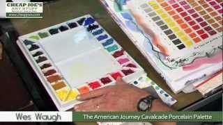 Whchiy Porcelaine Artiste Palette de peinture dessin Unique Wave con/çu Plateau Plat /à m/élanger pour lhuile aquarelle Gouache Peinture Oval