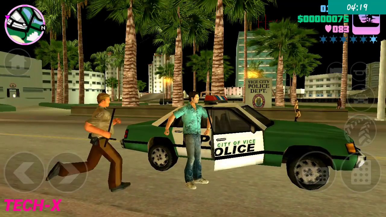 Gta Vice City Fight With Police Y City Game 2018 Youtube