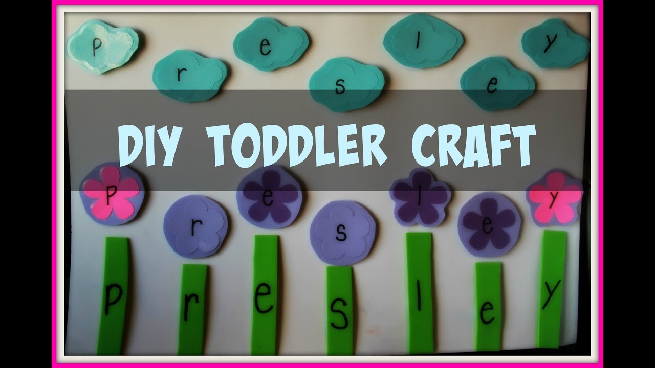 Diy Toddler Preschool Spelling Name Craft Cricut Explore Youtube