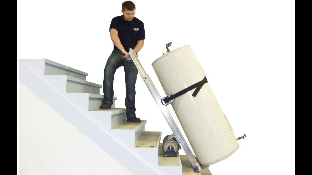 PowerMate Stair Climbing Hand Truck - Moves Water Heaters, Boilers, Water  Softeners
