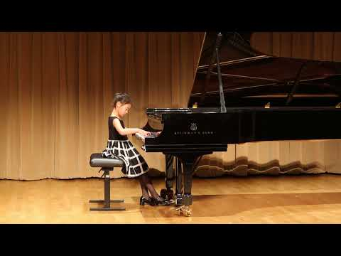 Mozart   Sonata in B flat, K  570   I  Allegro   Giselle Wu, 7 Years Old