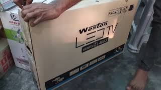 Weston 32 Inch HD Ready LED TV Unboxing