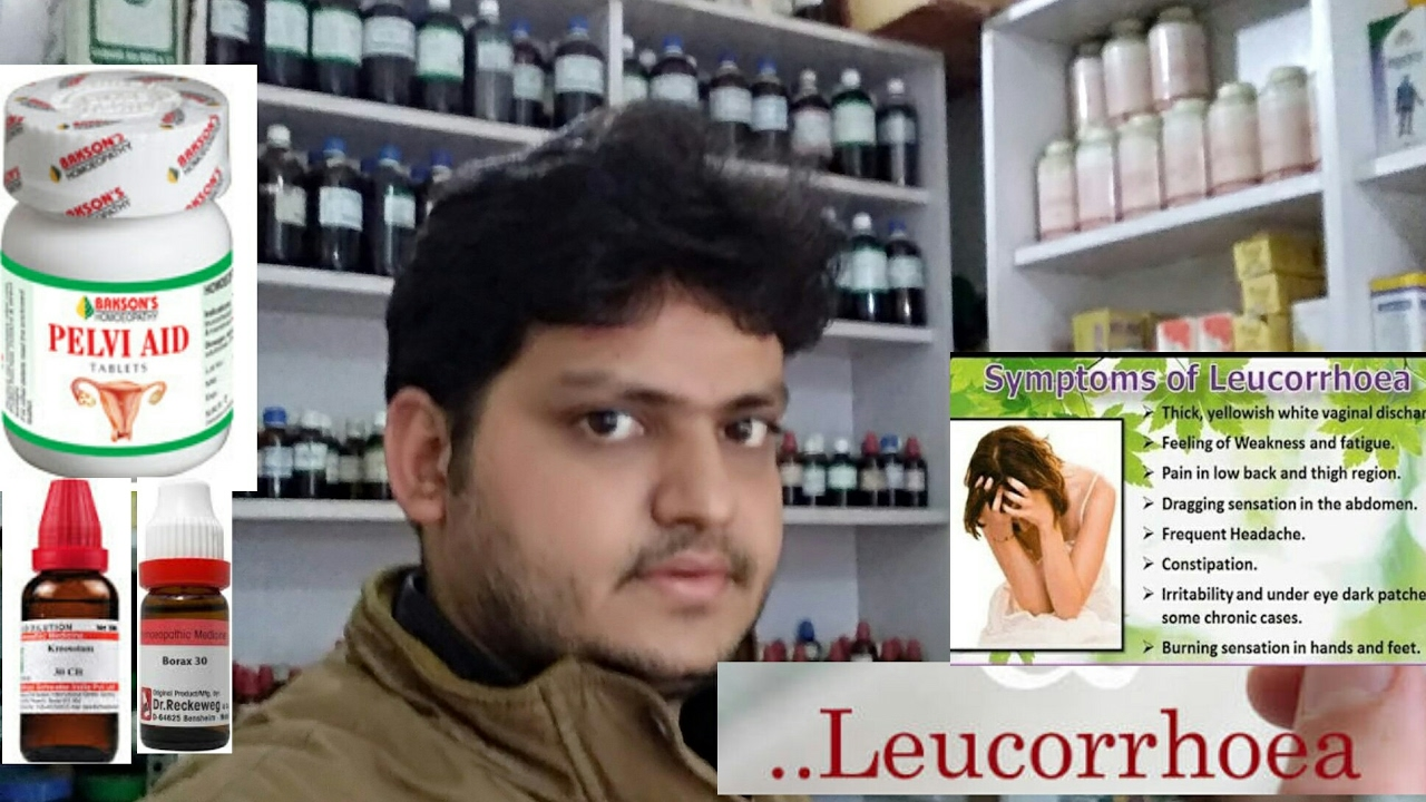homeopathic medicine for leucorrhoea or leukorrhea!explain??