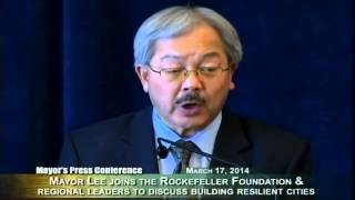 Mayor Lee at Rockefeller Foundation