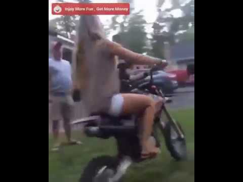 Big boobs Downblouse girl riding bike hot nip slip