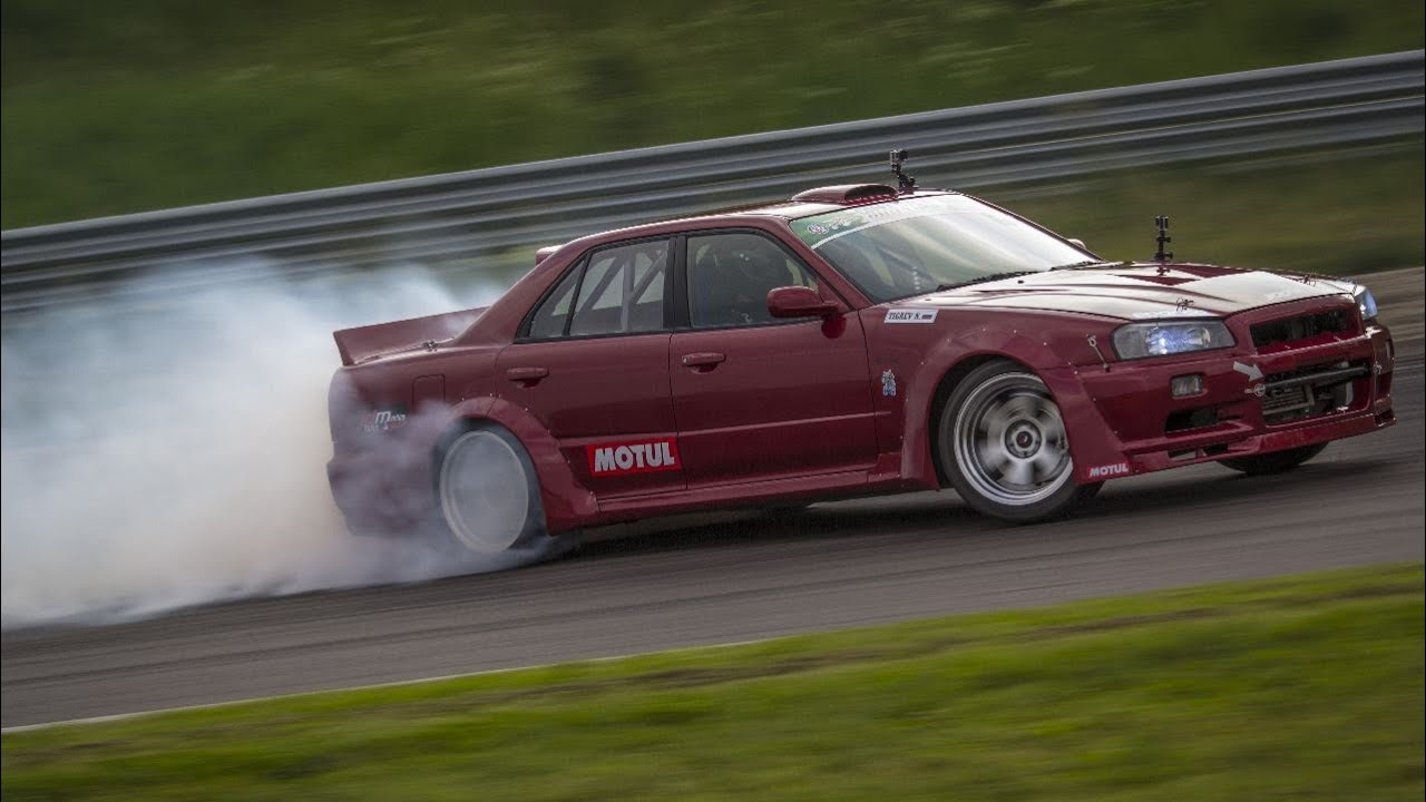 ls3 v8 4 door nissan skyline r34 drifting youtube