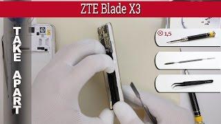 How to disassemble 📱 ZTE Blade X3 (T620) Take apart Tutorial