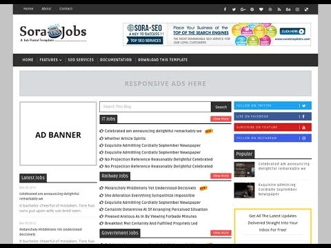 How To Setup Sora Jobs Blogger Template - Sora Templates