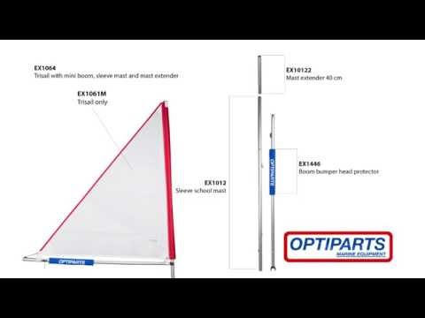 Optimist Mini Sail (Trisail) In Heavy Winds EX1061M Made By Optiparts