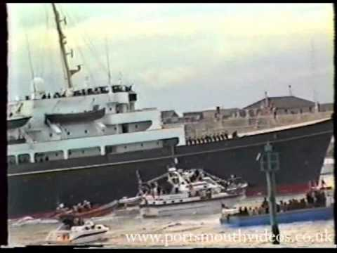 Royal Yacht HMY Britannia Final Homecoming Portsmouth 1997