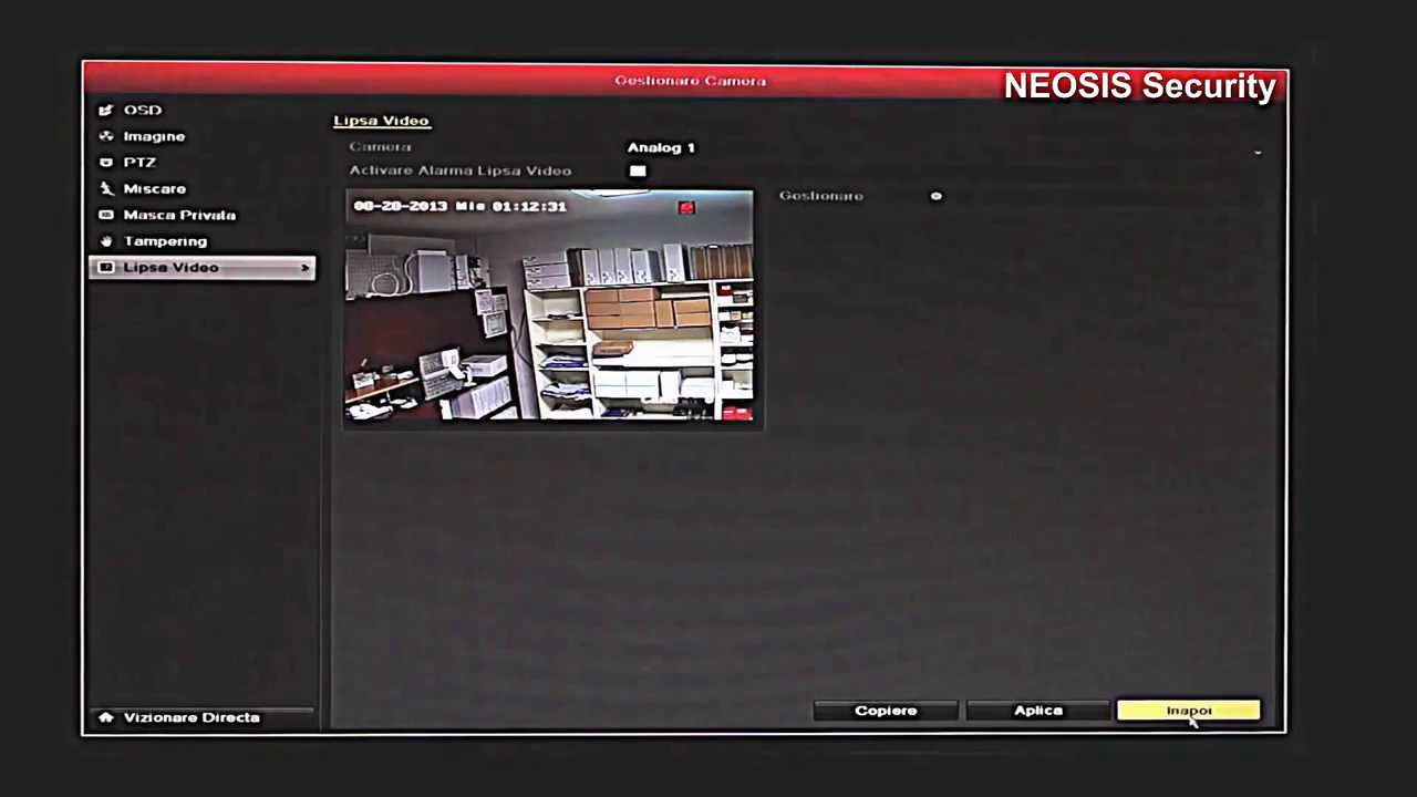 Dvr 16 Canale Hikvision Ds 7216hwi Sh A Neosis Youtube
