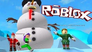 ROBLOX ESCAPE SANTA'S WORKSHOP OBBY | FROSTY POOP | RADIOJH GAMES