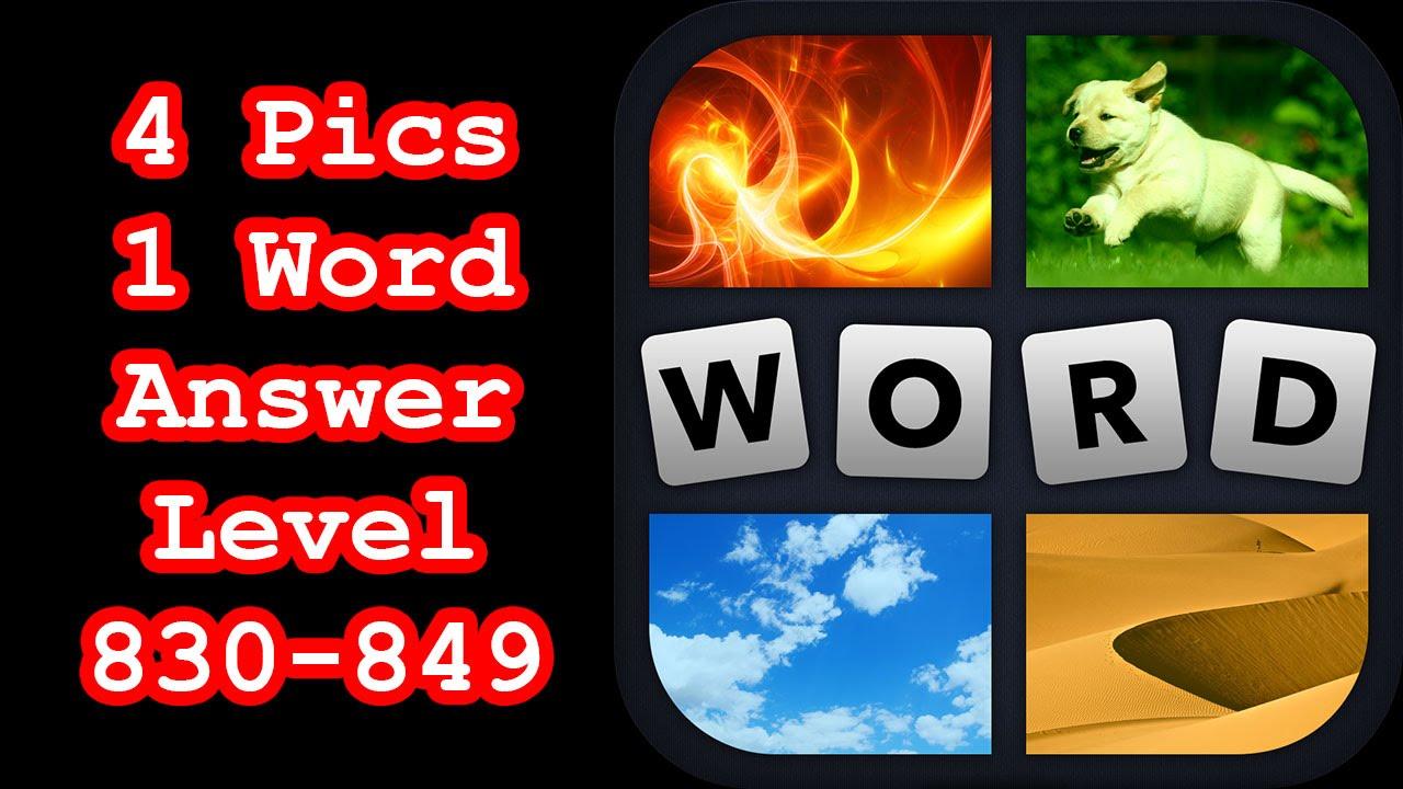 4 Pics 1 Word Level 830 849 Hit Level 850 Answers Walkthrough