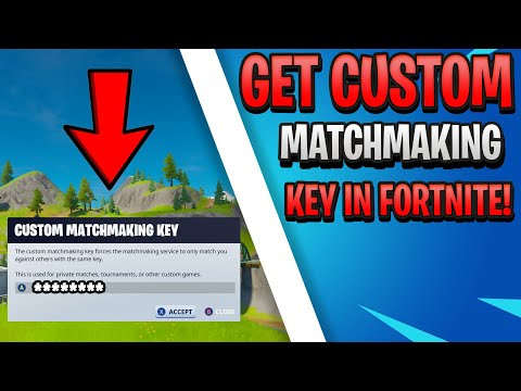*NEW* How To Get A Custom Matchmaking Key In Fortnite! (GET A SUPPORT-A-CREATOR CODE TOO!)