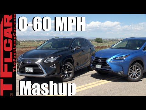 2016 Lexus RX 450h vs Lexus NX 300h 0-60 MPH Mashup Review: And the Faster Hybrid is...