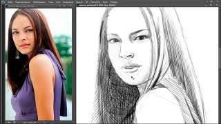 Рисую красивую актрису из сериала про супермена