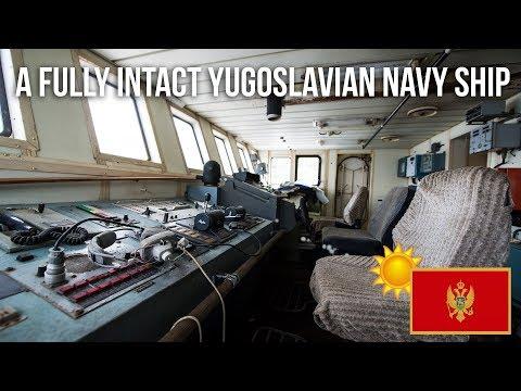 A fully intact Yugoslavian Navy Ship