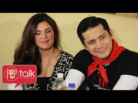 PEP Talk. Robin Padilla and Vina Morales and their