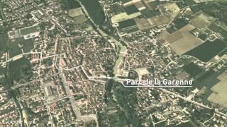 Nérac, du château Henri IV, au moulin des Tours