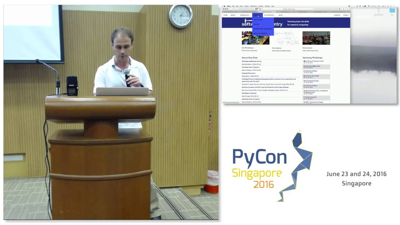 Image from Lightning Talk: Software Carpentry - PyConSG 2016