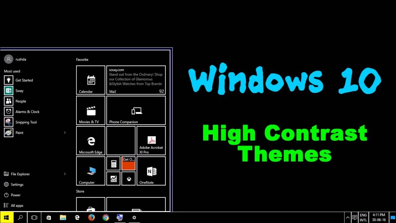 Gmail themes apply - How To Apply High Contrast Themes On Windows 10 2016 11 11