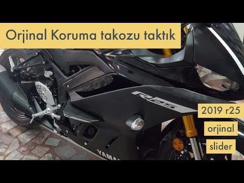 2019 R25 İçin Orjinal Koruma Takozu Montajı / Yamaha 2019 R3 Original slider