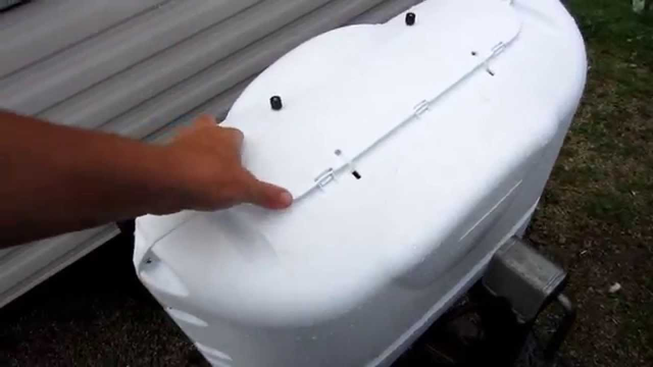 RV Dual propane tank cover install and review Camco 40523