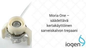 Moria One - säädettävä kertakäyttöinen sarveiskalvon trepaani