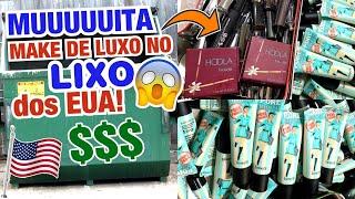 INACREDITÁVEL O QUE ACHEI NO LIXO DOS EUA! 😍🤩💖 MUUUITAS MAKES DE LUXO NO LIXO NOS EUA - PARTE1